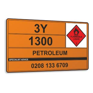 <B>Bespoke Hazchem Panels</b> <br> Hazchem vehicle panels for the tranportation of dangerous goods  safety sign