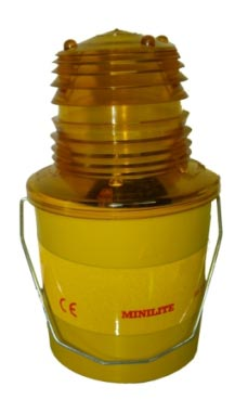 MiniLite, Amber, Flashing - with photocell  safety sign