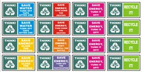 Sheet of 16 Environmental Stickers