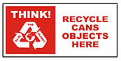 Large recycle bin sticker - Cans