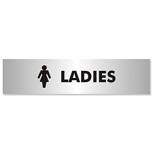 Ladies Sign Aluminium Effect Acrylic