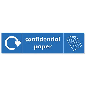 Recycle Confidential Paper Hanger