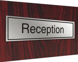 Stainless plaque reception
