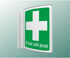 First Aid Post Projecting Sign