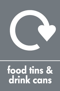 Food tins and drink cans recycle