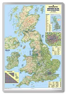 Giant British Isles Motoring Map  safety sign