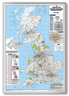 British Isles Postcode Area Map  safety sign