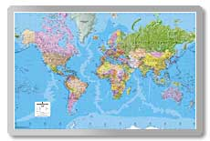 Giant World Political Map  safety sign