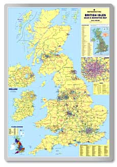 British Isles Sales & Marketing Map  safety sign