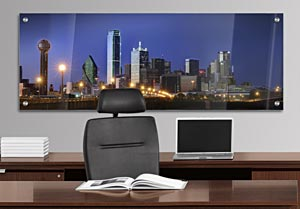 Dallas Skyline - Office Art on Acrylic