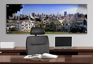 Alamo Square - Office Art on Acrylic