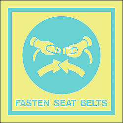 fasten seat belts Marine IMO Sign