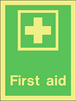 first aid Marine IMO Sign