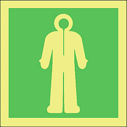 immersion suit symbol Marine IMO Sign
