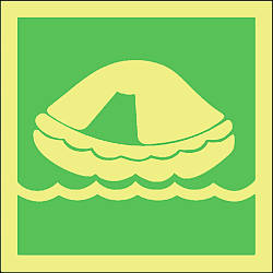 liferaft symbol Marine IMO Sign