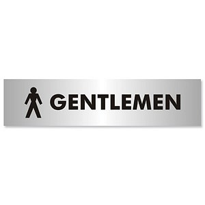 Gentlemen Sign Aluminium Effect Acrylic General Office
