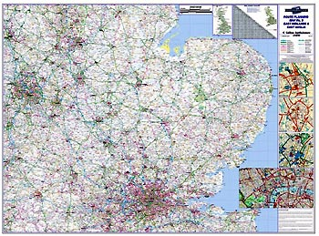Regional Road Map 5 - East Midlands and East Anglia including London MAPS