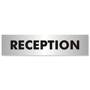 Reception Sign Aluminium Effect Acrylic General Office