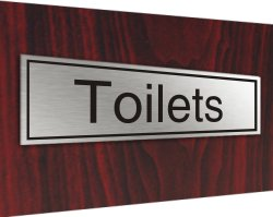 Stainless plaque toilets Prestige