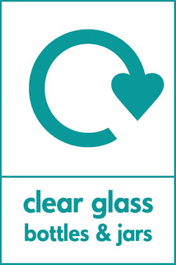 Clear glass bottles and jars recycle Recycle