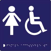 Female  Accessible Toilet Braille