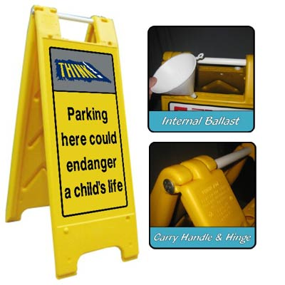 Heavy Duty Large A-Board No Parking 1 Signs for Schools
