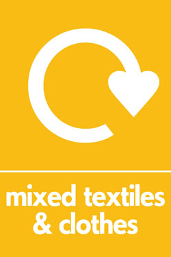 Mixed textiles and clothes recycle Recycle